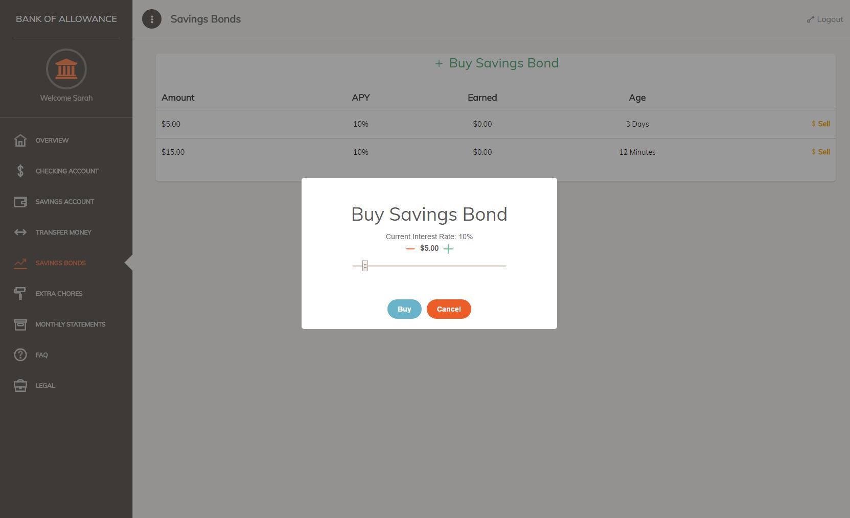 Child - Buy Savings Bond